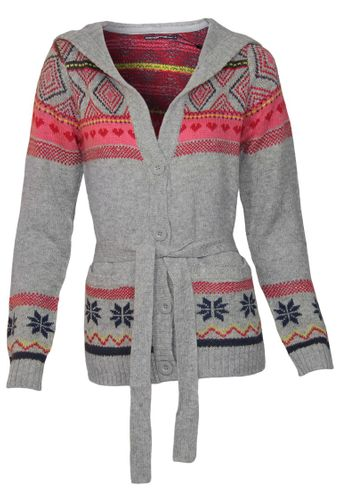 Outfitters Nation Cardigan House F Ls Hood Knit
