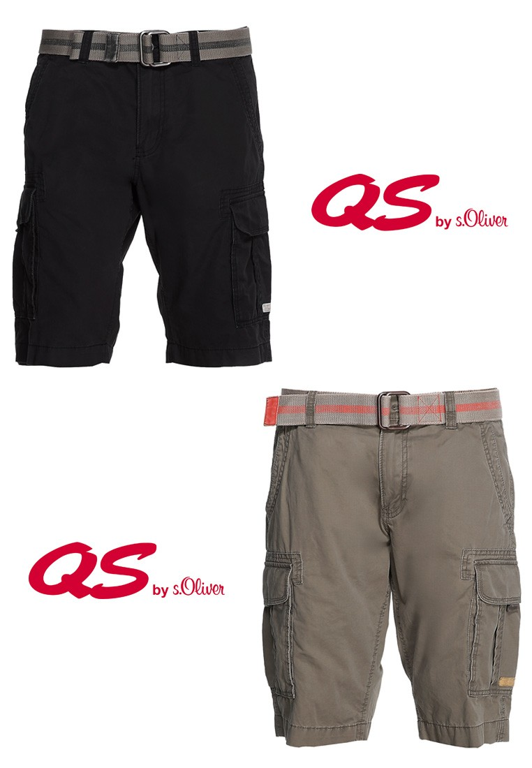 qs by s oliver herren hose shorts bermuda mit g rtel freizeit urlaub sommer ebay. Black Bedroom Furniture Sets. Home Design Ideas