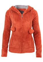 Stitch & Soul Teddy Fleece Jacke mit Öhrchen