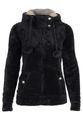 Urban Surface Damen Teddy Fleecejacke mit Öhrchen und Kapuze 005