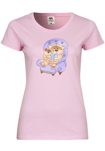 UL63 F288N Damen T-Shirt mit Motiv Good Night Lily Bear