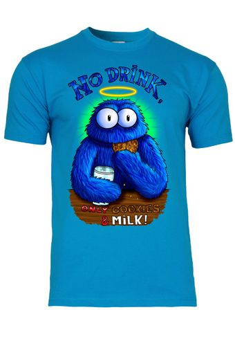 M10 F140 Herren T-Shirt mit Motiv Cookie Monster