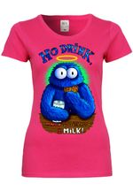 M10 F288N Damen T-Shirt mit Motiv Cookie Monster