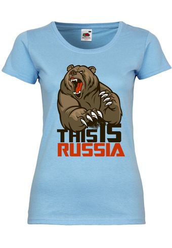 M16 F288N Damen T-Shirt mit Motiv This is Russia