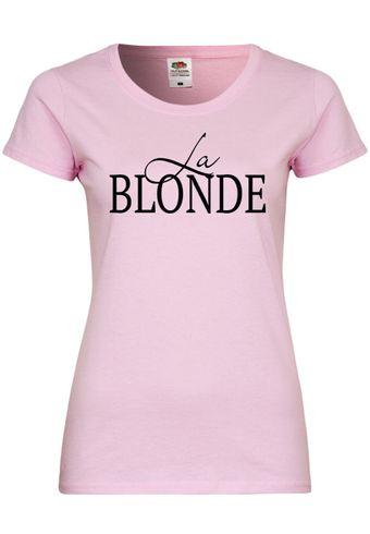 UL101 F288N Damen T-Shirt mit Motiv La Blonde
