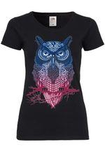 M40 F288N Damen T-Shirt mit Motiv Magic Owl