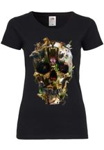 M41 F288N Damen T-Shirt mit Motiv Animal Skull