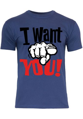 M34 F140 Herren T-Shirt mit Motiv I Want You