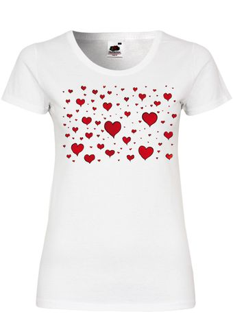 M102 F288N Damen T-Shirt mit Motiv Lots of Love