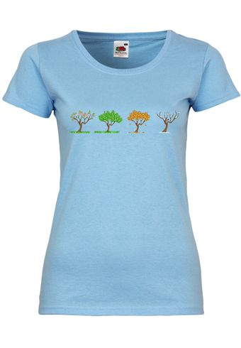 M104 F288N Damen T-Shirt mit Motiv Changing of the Seasons