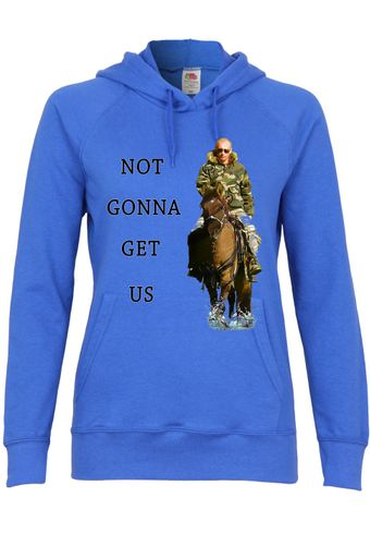 M113 F435 Damen Kapuzen Sweatshirt Hoodie mit Motiv Not Gonna Get Us Putin