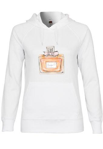 UL50 F435 Damen Kapuzen Sweatshirt Hoodie mit Motiv Parfum