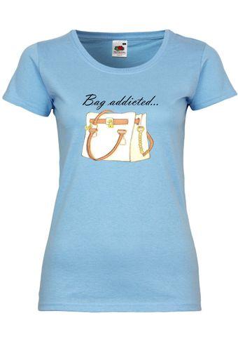 UL138 F288N Damen T-Shirt mit Motiv Bag Addicted...