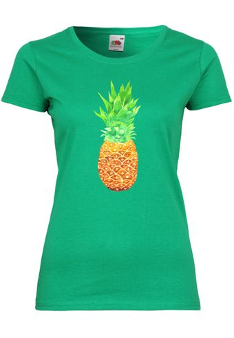 UL146 F288N Damen T-Shirt mit Motiv Pineapple