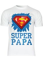M134 F140 Herren T-Shirt mit Motiv Superman Daddy
