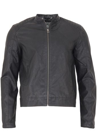 Jack & Jones Herren Jacke Jorblack On Black Biker Jacket