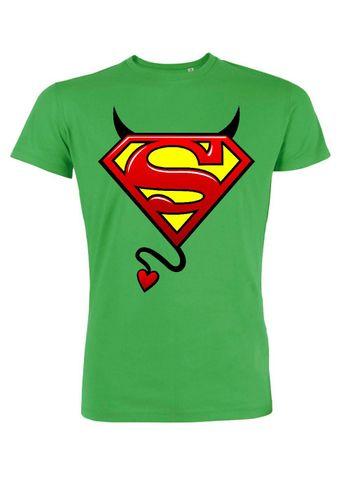 rs37 Herren T-Shirt Leads  Evil Superman