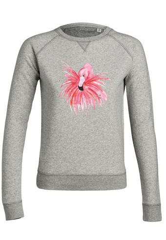 ul19 Damen Sweatshirt Trips Fluffy Red Flamingo