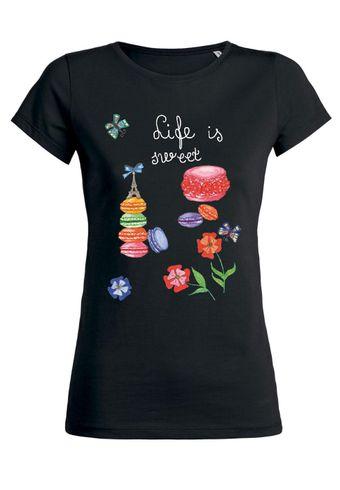 ul22 Damen T-Shirt Wants Life is Sweet
