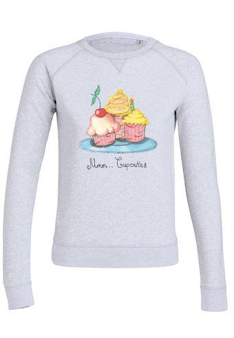 ul26 Damen Sweatshirt Trips Mmm Cupcakes