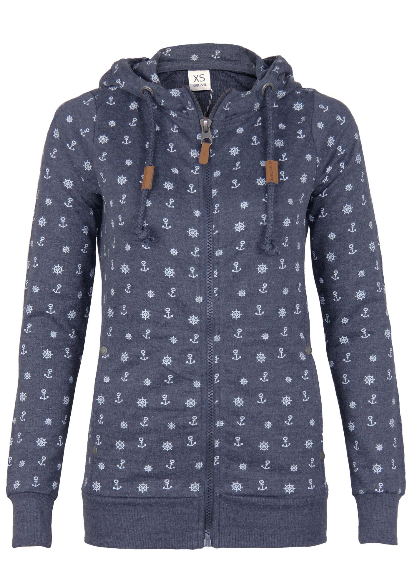 Sublevel Damen Sweatshirt mit Kapuze