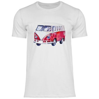 ul28 Herren T-Shirt VW Bus T1 in rot