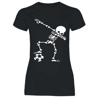 df1 Damen T-Shirt Dabbing Skelett Fußball