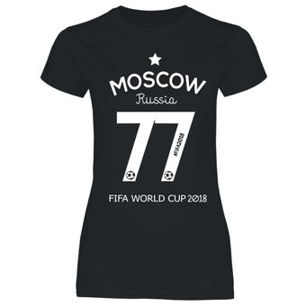 df7 Damen T-Shirt Russland Russia WM 2018