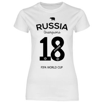df9 Damen T-Shirt Russland Russia WM 2018