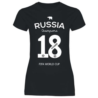 df10 Damen T-Shirt Russland Russia WM 2018