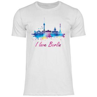 rs102 Herren T-Shirt I love Berlin