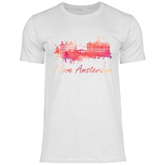 rs100 Herren T-Shirt I love Amsterdam