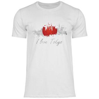 rs119 Herren T-Shirt I love Tokio mit Fahne