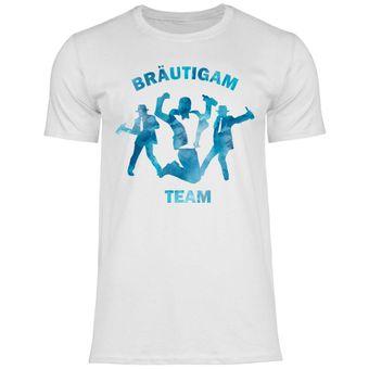 a44 Herren T-Shirt Bräutigam Team