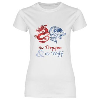 rs129 Damen T-Shirt The Dragon & the Wolf I