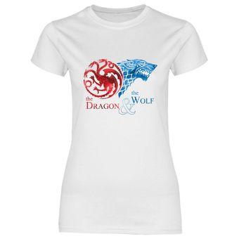 rs130 Damen T-Shirt The Dragon & the Wolf II