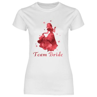 rs131 Damen T-Shirt Rote Prinzessin Team Bride