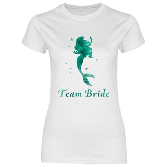 rs138 Damen T-Shirt Dunkelgrüne Prinzessin Team Bride